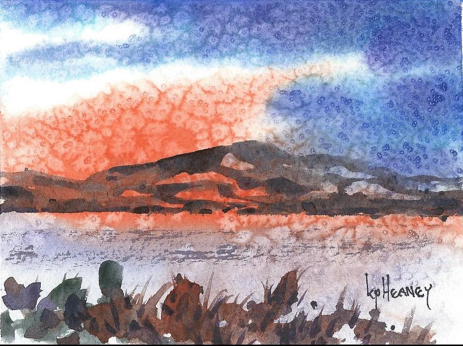 Landscape Painting - Flathead Lake Montana by Kevin Heaney