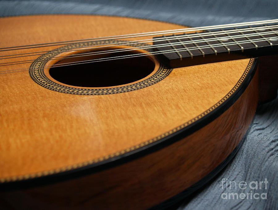 Mandolin Photograph - Flatiron Mandolin On Blue by Anna Lisa Yoder