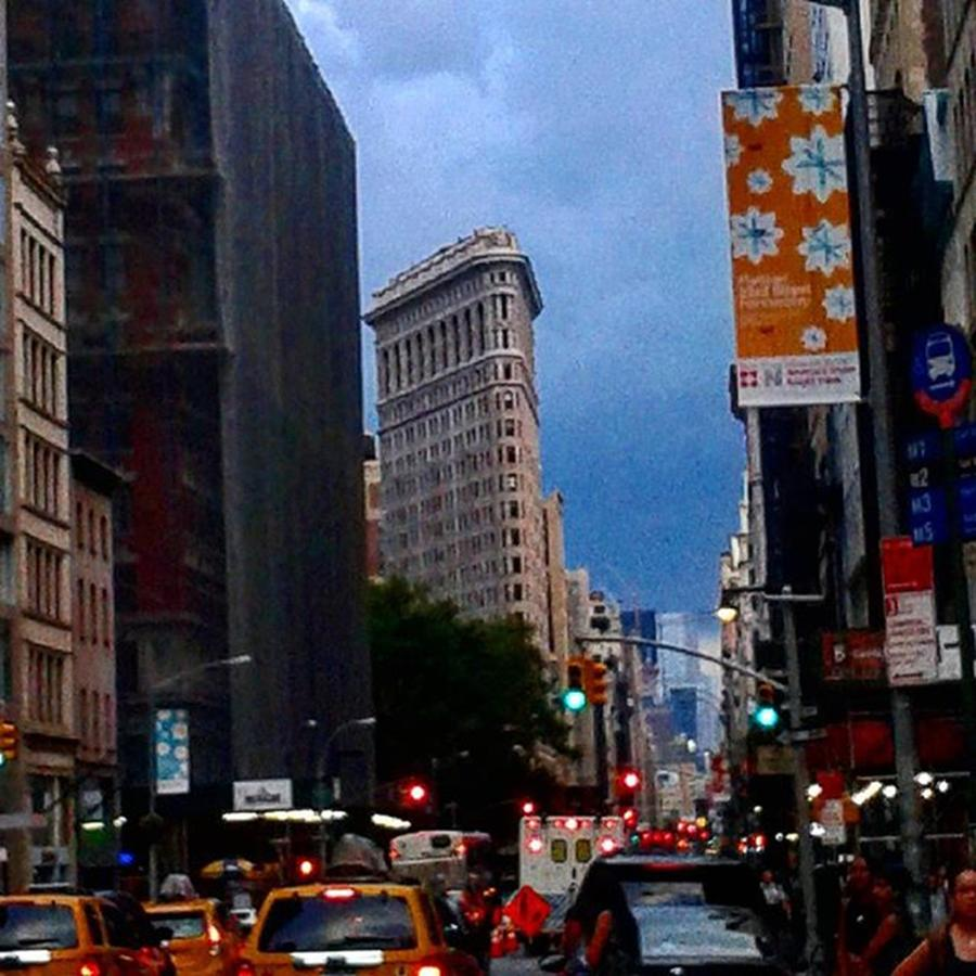 Evening Photograph - Flatiron #nyc #newyorkcity #cloudyshot by Christopher M Moll