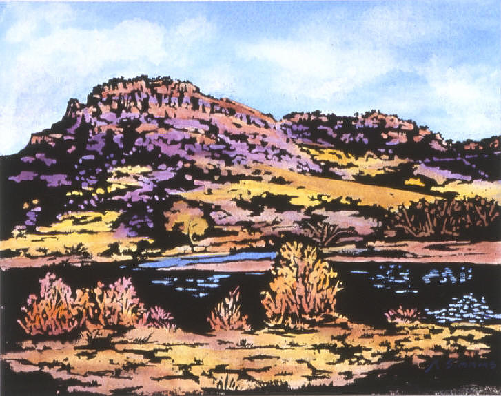 Flatiron Reservoir Loveland Co Painting by Marion Simmons