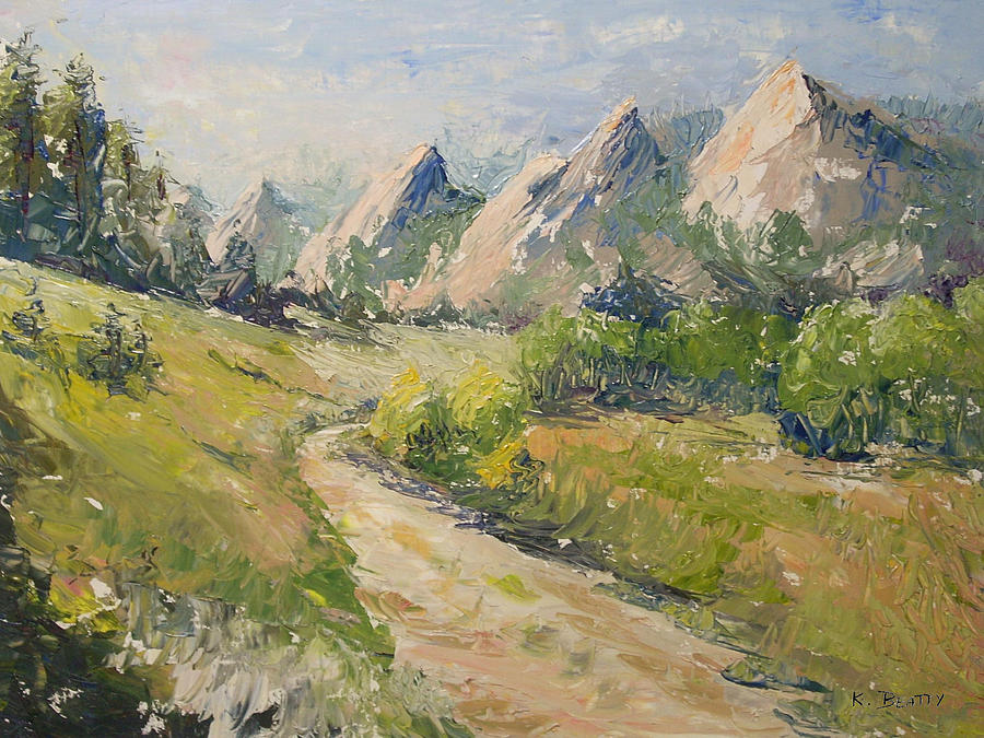 Rocky Mountains Painting - Flatirons in the Rockies by Karla Beatty