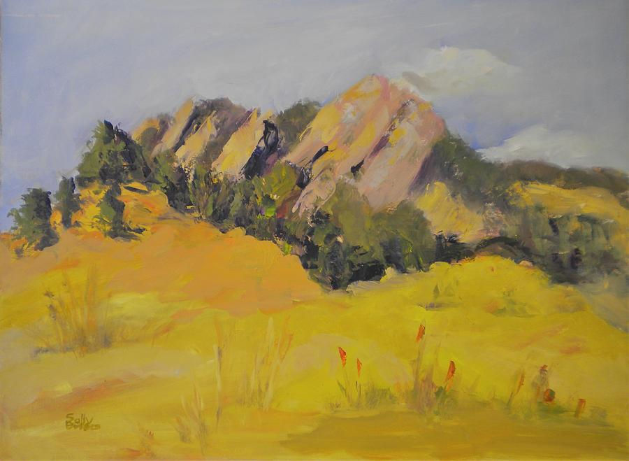 Flatirons Painting - Flatirons by Sally Bullers