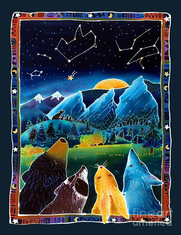 Night Scene Painting - Flatirons Stargazing by Harriet Peck Taylor