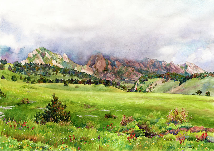 Flatirons Vista by Anne Gifford
