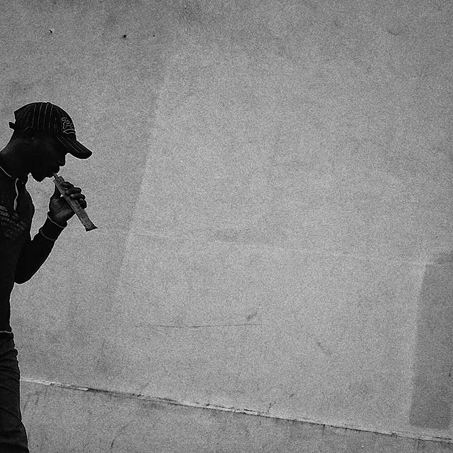 Paris Photograph - Flautist  #shape #shilouette #man by Rafa Rivas