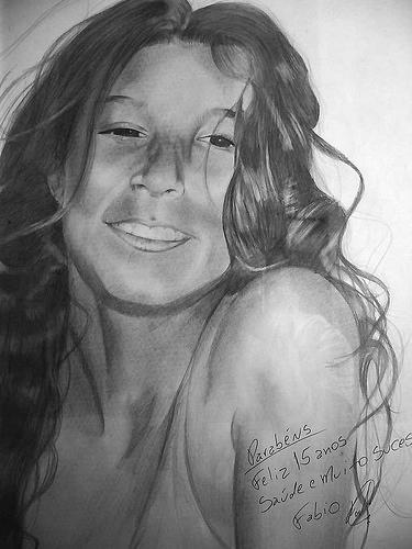 Flavia Drawing - Flavia Turini by Fabio Turini