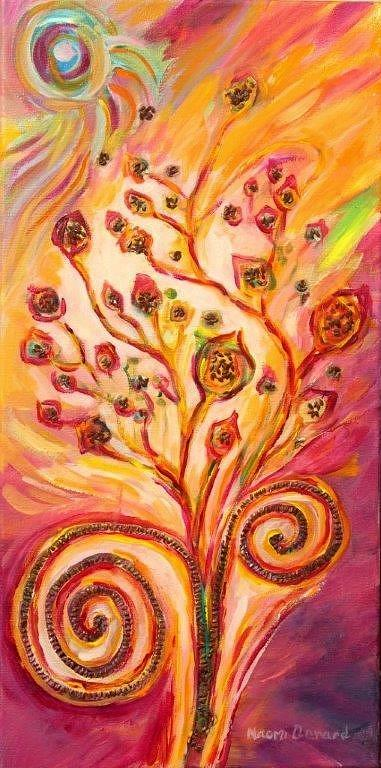 Flax Maturing by Naomi Gerrard