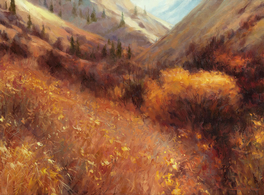 Autumn Painting - Flecks of Gold by Steve Henderson