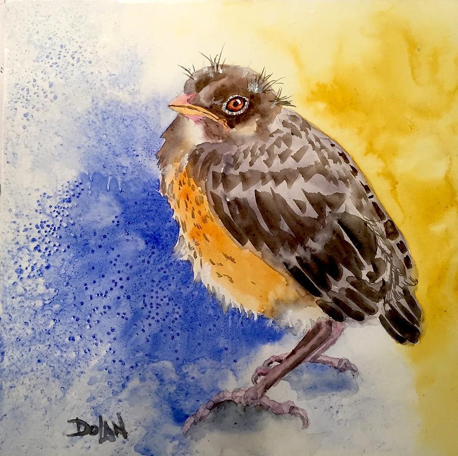 Fledgling Robin by Pat Dolan