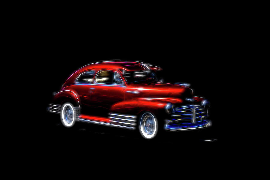 Fleetline Chevrolet RED  by Cathy Anderson