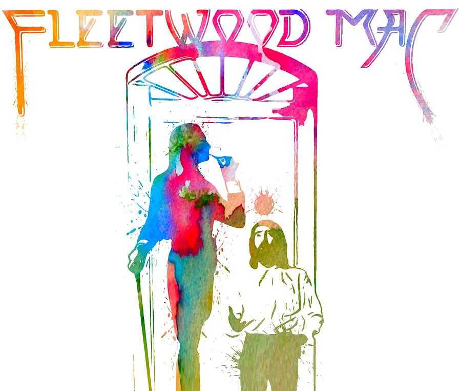 Fleetwood Mac Digital Art - Fleetwood Mac Album Cover Watercolor by Dan Sproul