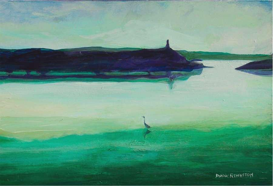 Water Painting - Fleming Beach 2 by Dominic Fetherston