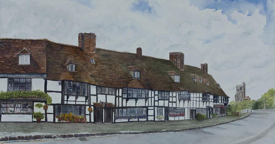 Cottages Painting - Flemish Weavers Cottages England by Debbie Homewood
