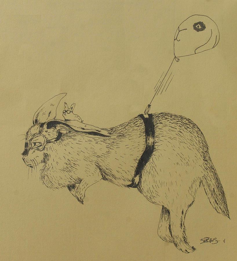 Flemish Drawing - Flemish Zeppelin by InKibus