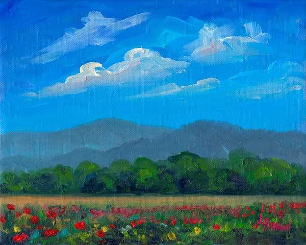 Poppies Painting - Fletcher Park Poppies by Jeff Pittman