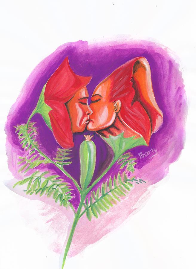 Fleur D Amour Painting By Emmanuel Baliyanga
