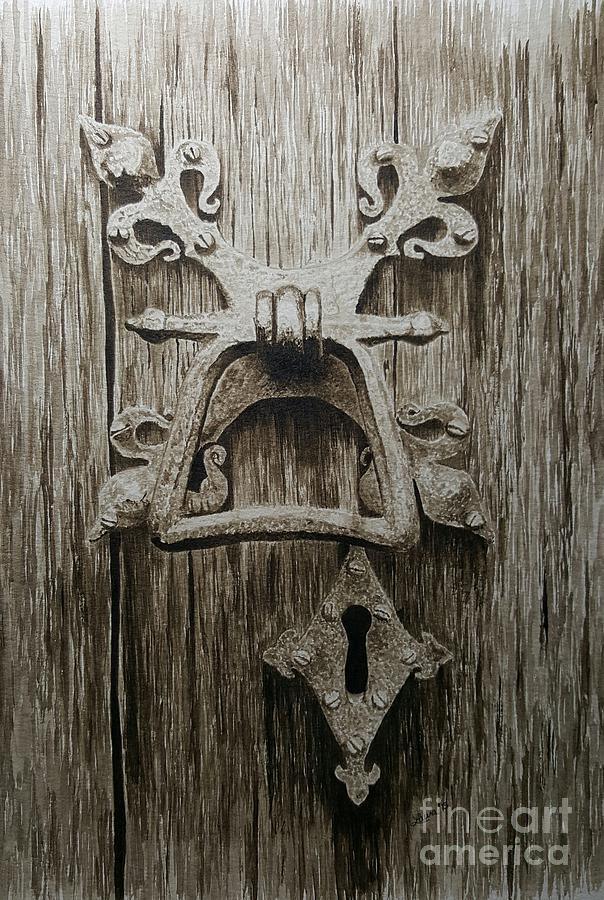 Door Painting   Fleur De Lis Door Knocker By Laura Banister