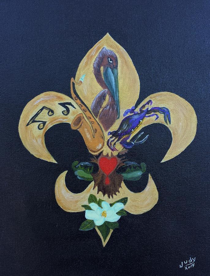 Fleur De Lis New Orleans Style Painting