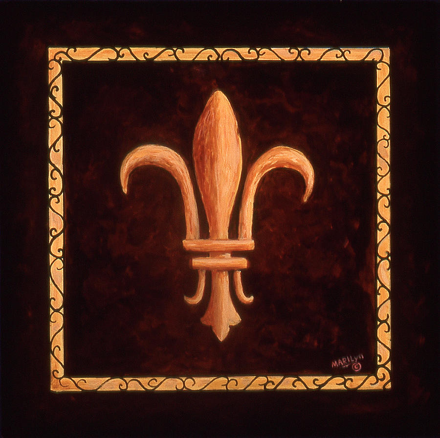 France Painting - Fleur De Lys-clovis by Marilyn Dunlap