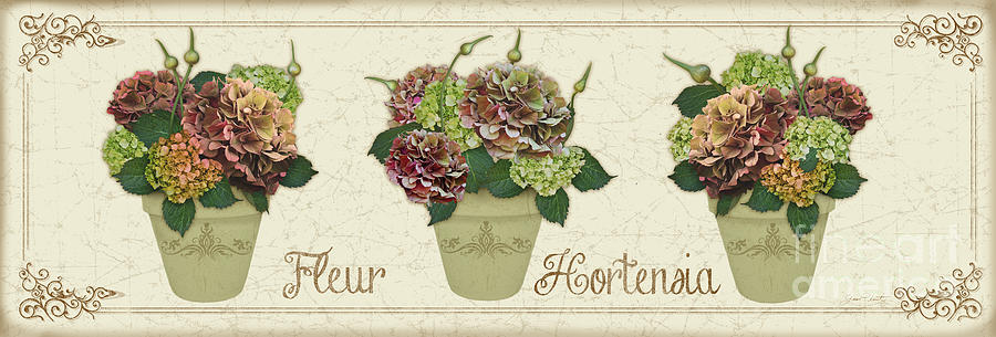 Digital Painting Painting - Fleur Hortensia-jp3016 by Jean Plout