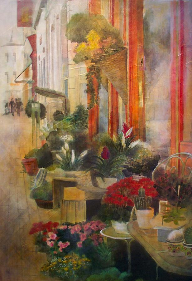 Flowers Painting - Fleuriste by Victoria Heryet
