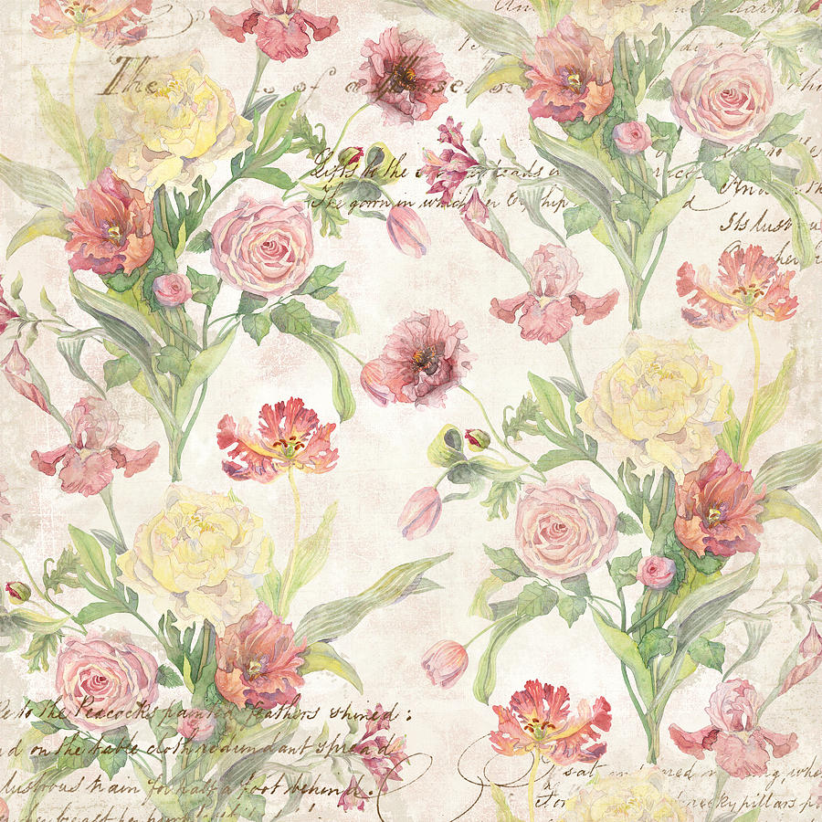 Watercolor peony wallpaper images Fleurs pivoines