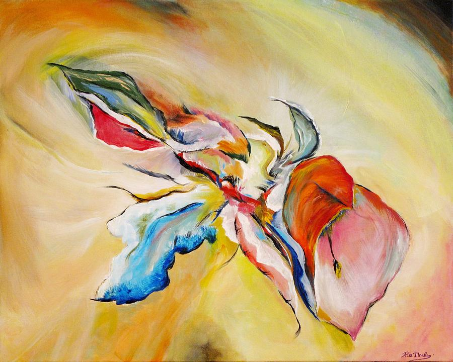Abstract Painting - Fleurs Sucrees  by Rita  Ibrahim