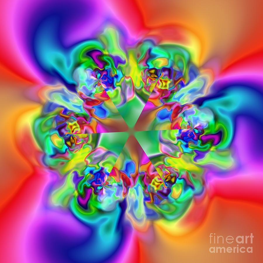 Abstract Digital Art - Flexibility 17c by Rolf Bertram