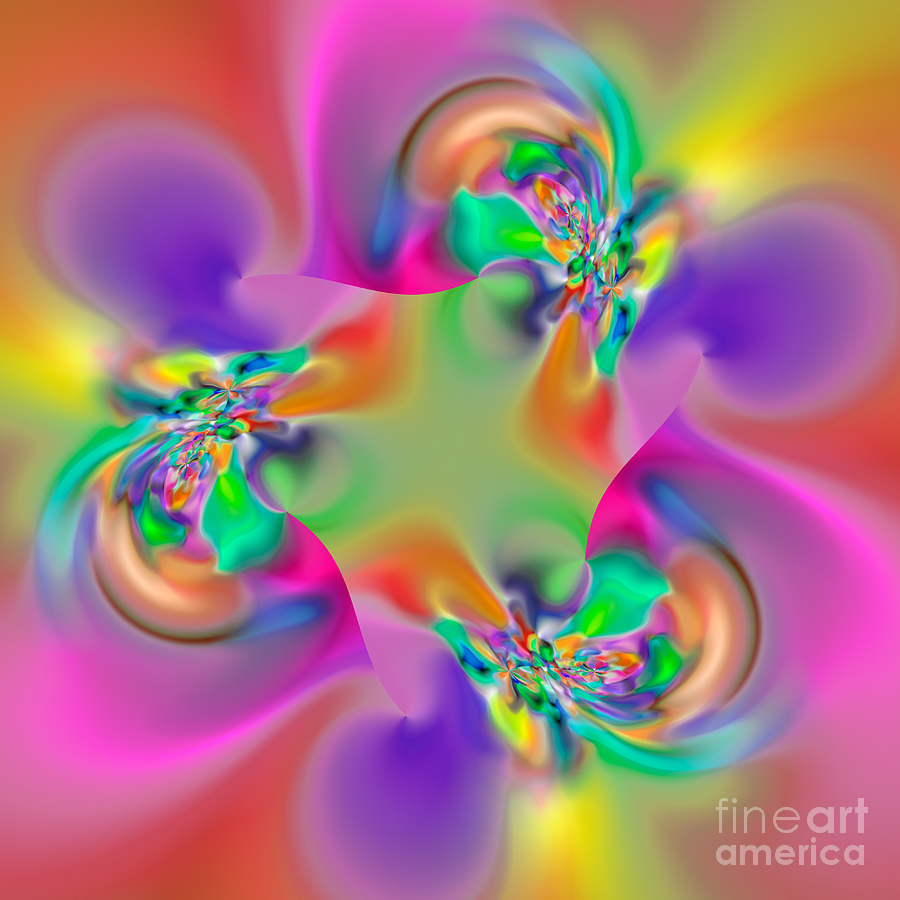 Abstract Digital Art - Flexibility 34ea by Rolf Bertram