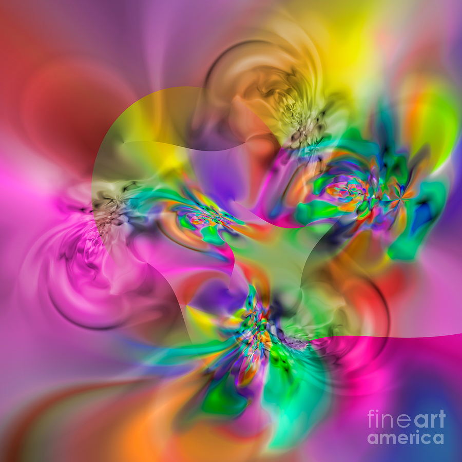 Abstract Digital Art - Flexibility 34eaa by Rolf Bertram