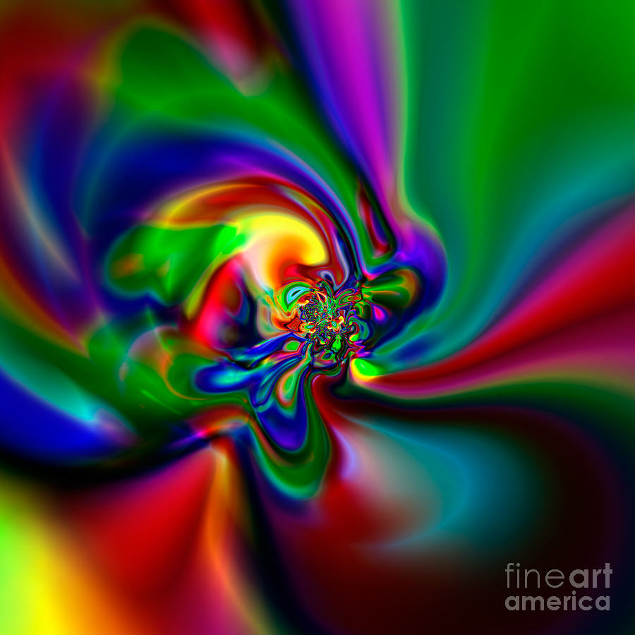 Abstract Digital Art - Flexibility 49a1 by Rolf Bertram