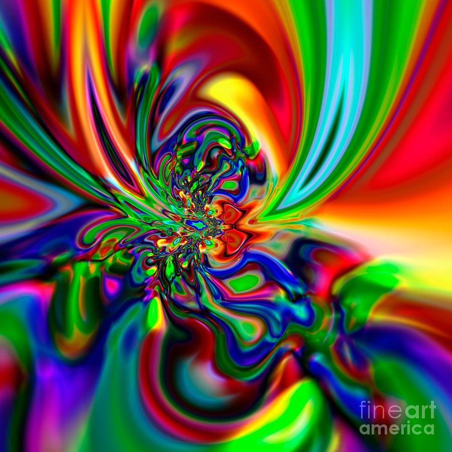 Square Digital Art - Flexibility 49ba by Rolf Bertram