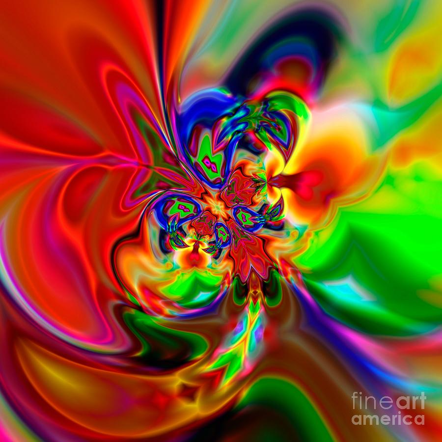 Abstract Digital Art - Flexibility 49ea by Rolf Bertram