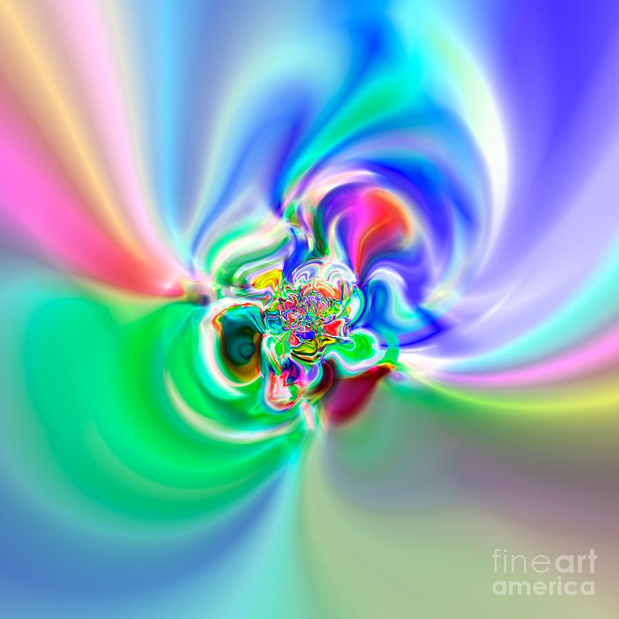 Abstract Digital Art - Flexibility 51a by Rolf Bertram
