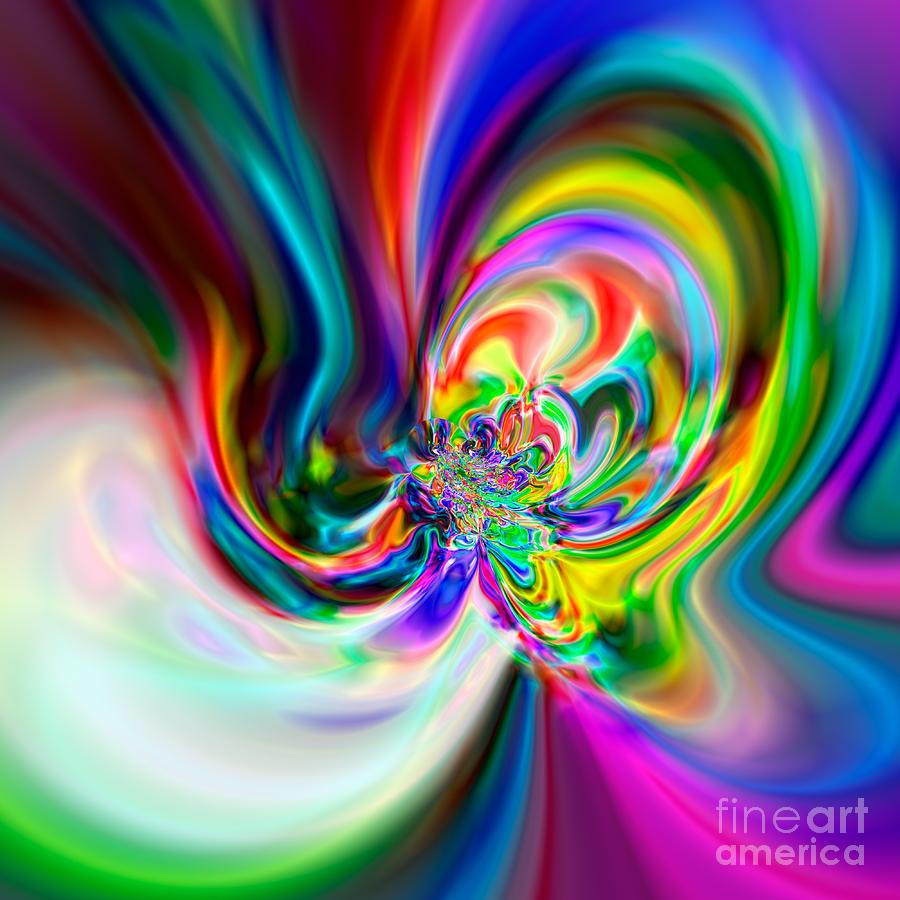 Abstract Digital Art - Flexibility 51ba by Rolf Bertram