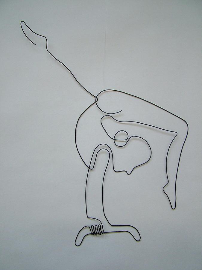 Flexible Strength Sculpture by Karl Bayek