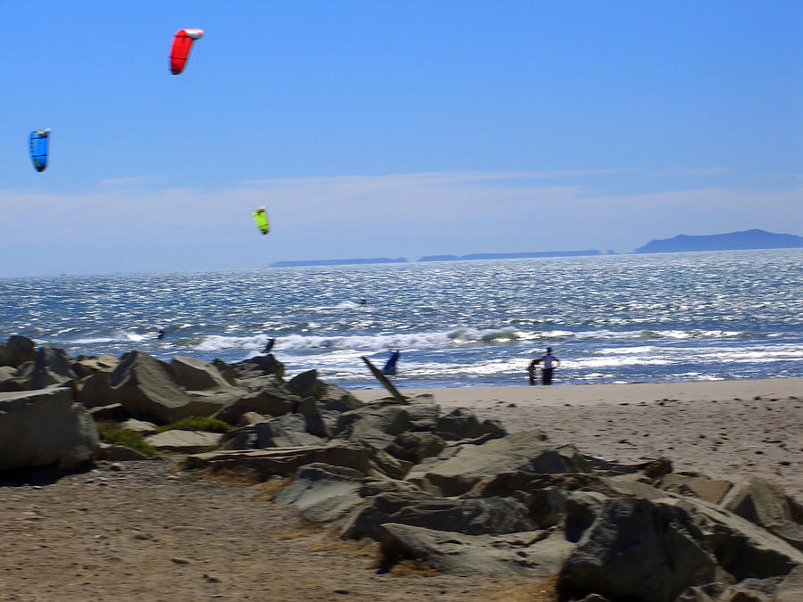 Beach Photograph - Flies In The Sky 2 by Robin Hernandez