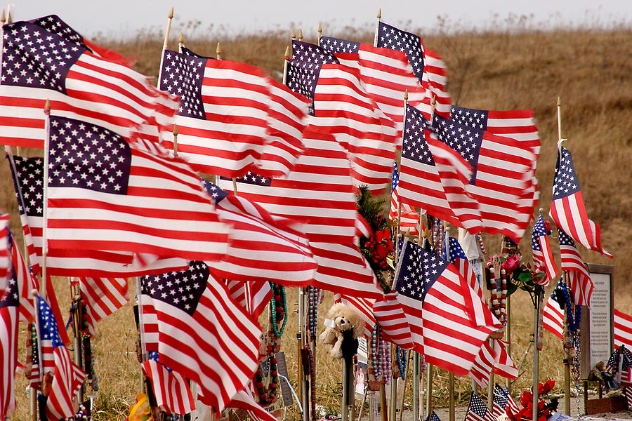 Flags Photograph - Flight 93 Flags by Jean Macaluso