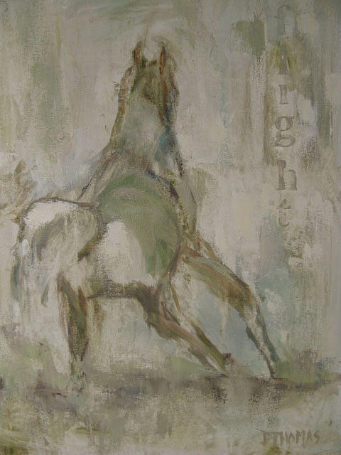 Horse Painting - Flight by Donna Thomas