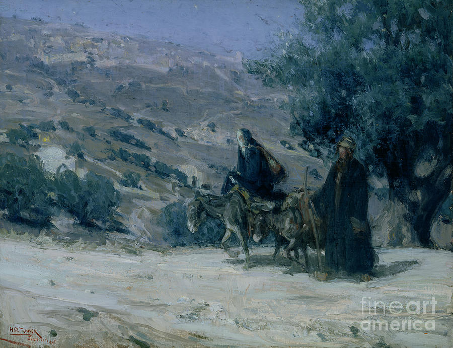 Flight Into Egypt Painting - Flight Into Egypt by Henry Ossawa Tanner