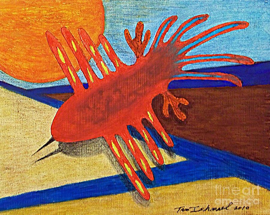 Bird Drawing - Flight Of The Ancients by Tammy Ishmael - Eizman