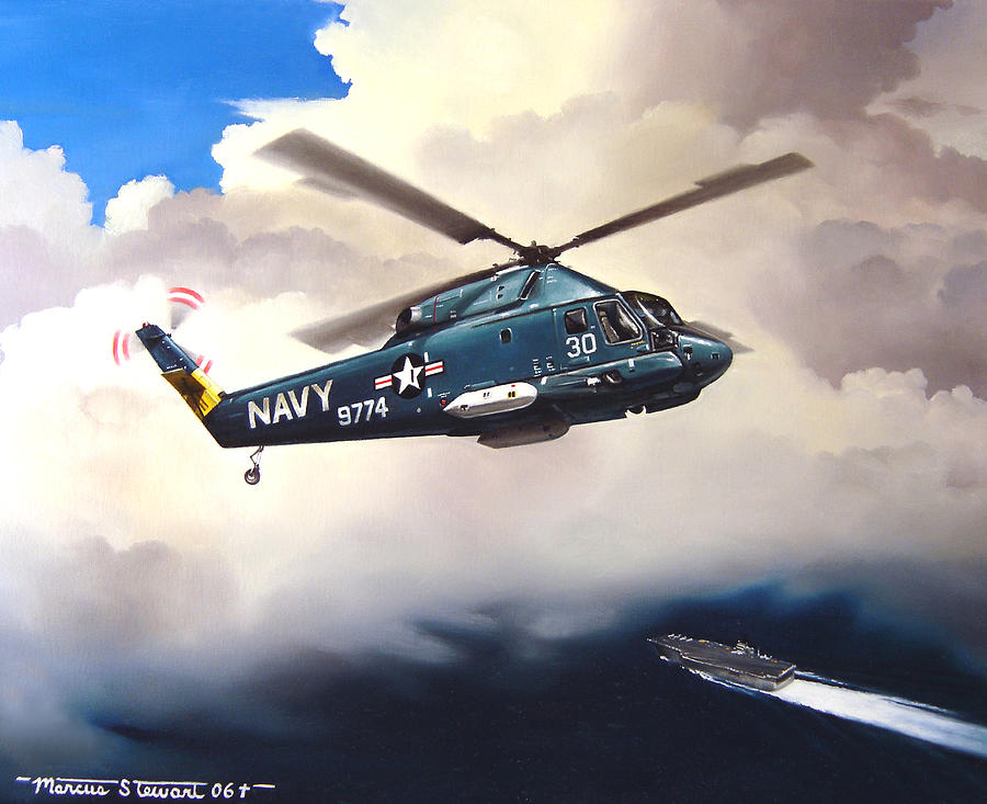 Military Painting - Flight Of The Seasprite by Marc Stewart