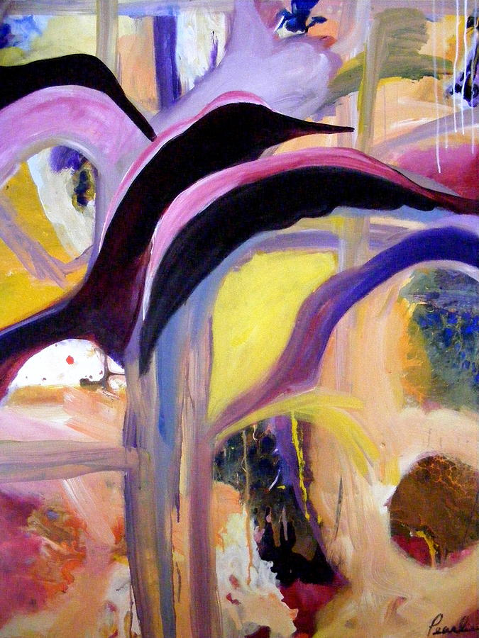Abstract Painting - Flight Of The Sparrow by Pearlie Taylor