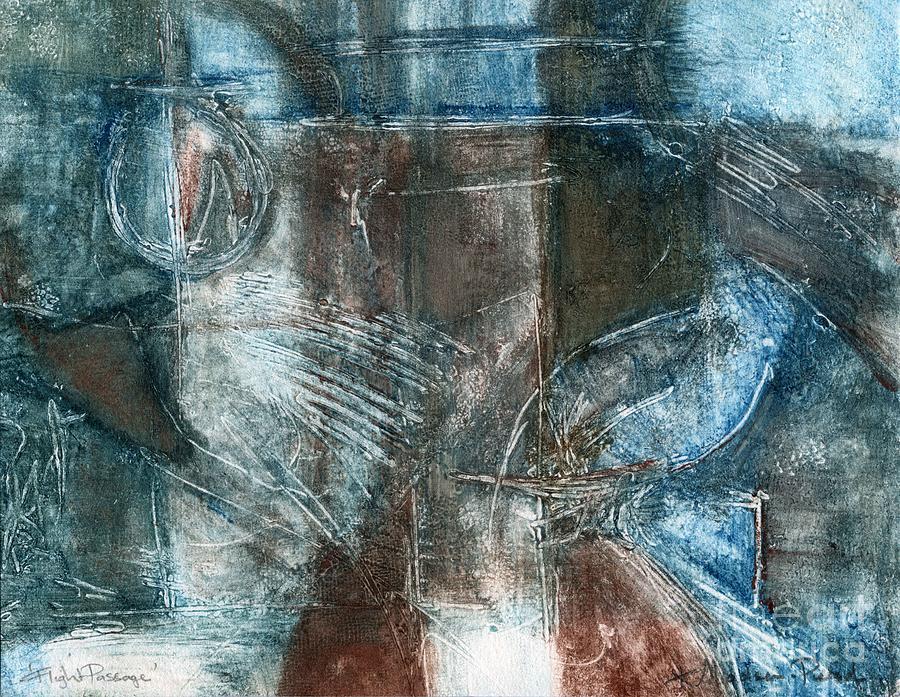 Flight Drawing - Flight Passage by Kerryn Madsen- Pietsch