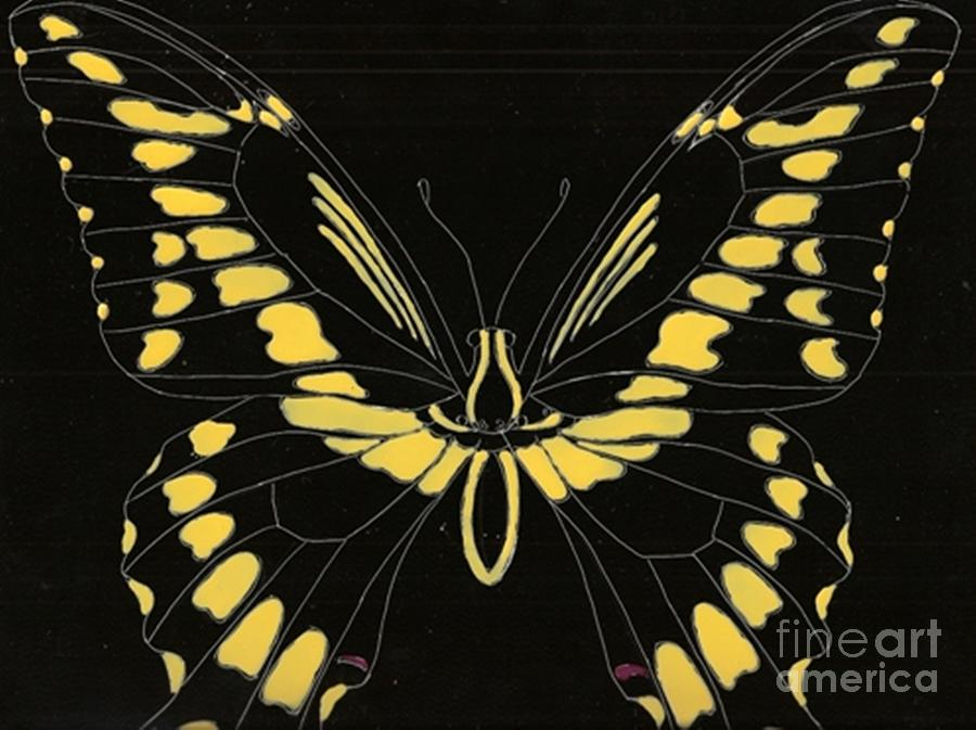 Butterfly Painting - Flight Series 11 Yellow Tail by Iamthebetty Tbone