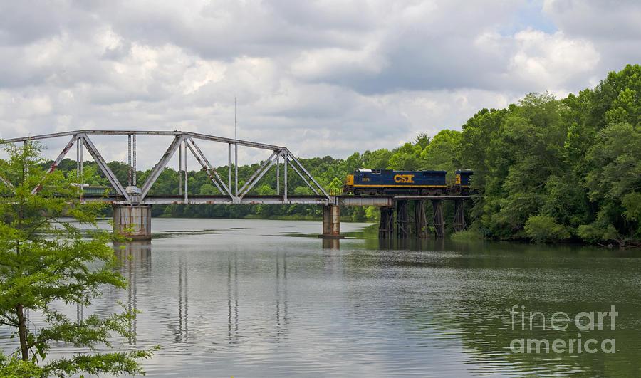 Train Photograph - Flint River Train Trestle by Debra Johnson