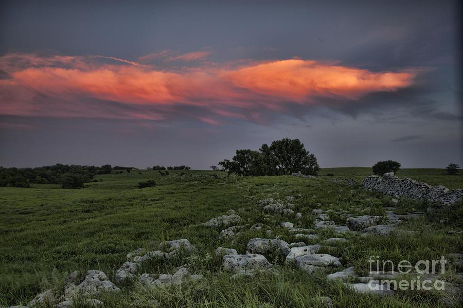 Flinthills Sunset by Crystal Nederman