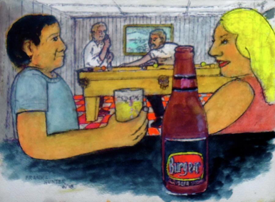 Flirting at my basement bar and pool room by Frank Hunter