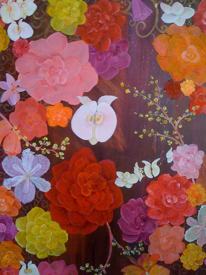 Flirty Blossoms Painting by Sabra Chili