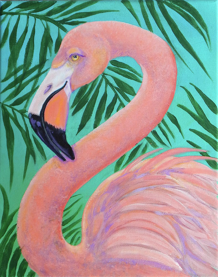 Flirty Flamingo Painting By Pat St Onge